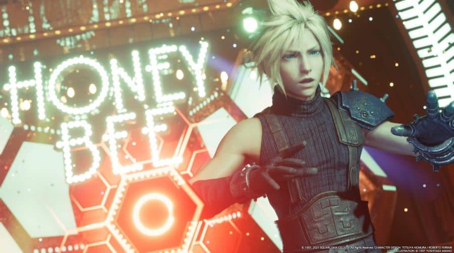 Final Fantasy VII Remake: Cloud quase fez pole dance em cena no Honey Bee Inn