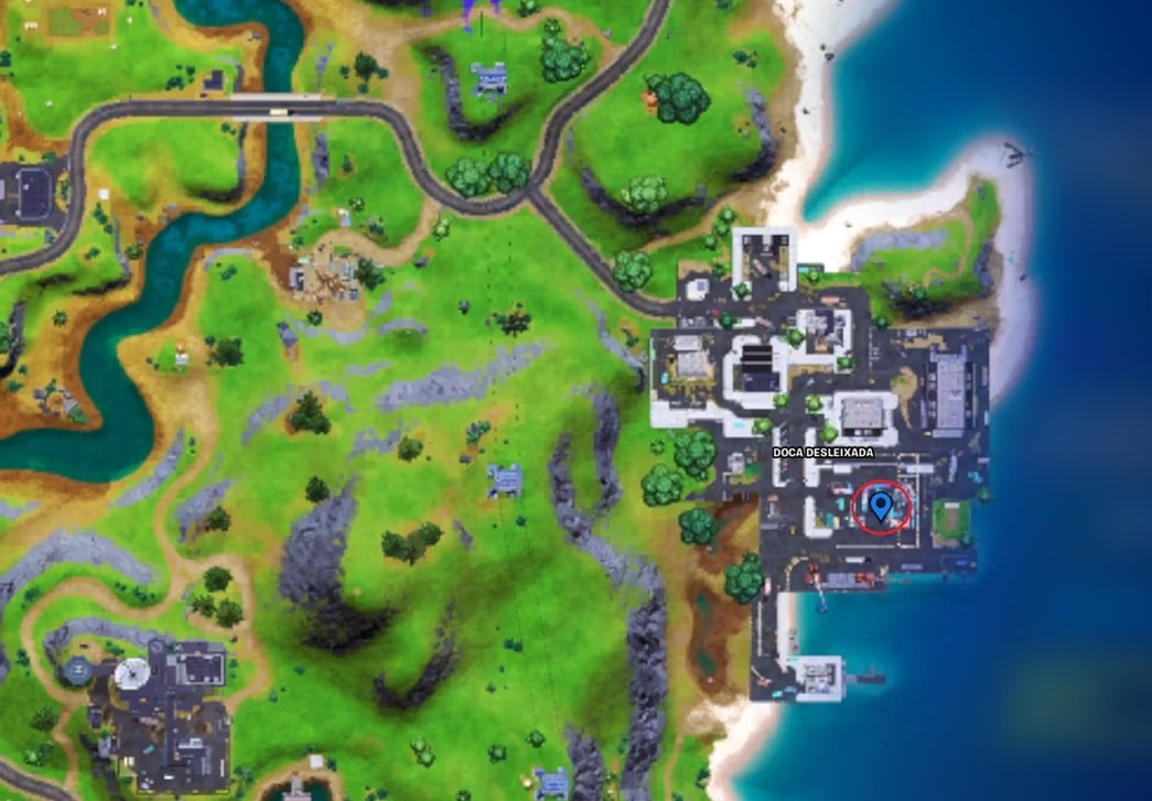 Mapa de Fortnite.