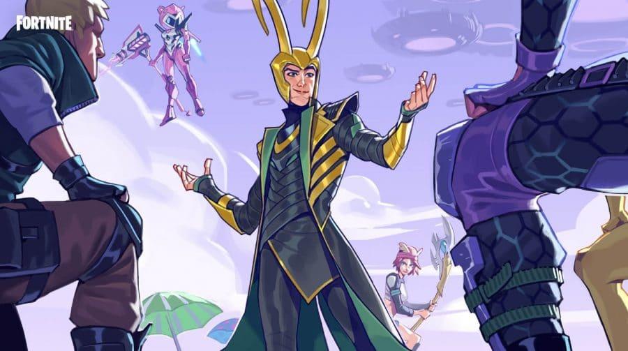 Loki, o príncipe de Asgard, tem visual revelado e chega ao Fortnite em julho