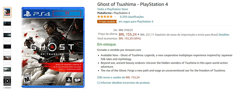 Ghost of Tsushima na Amazon
