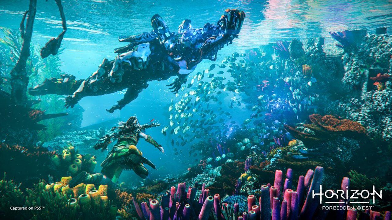 Ambiente aquático de Horizon Forbidden West.