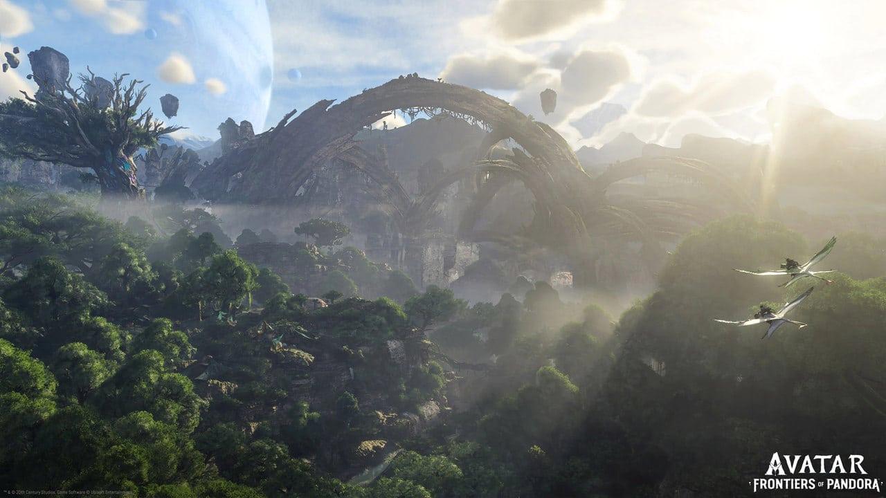 Imagem do mapa visto de cima do Jogo do Avatar com uma floresta densa