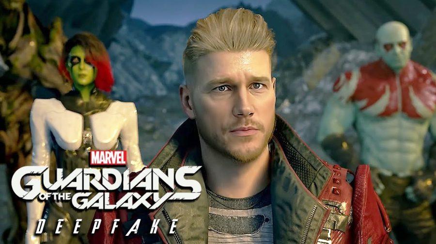 Deep Fake adiciona Chris Pratt como Star-Lord no jogo dos Guardiões da Galáxia