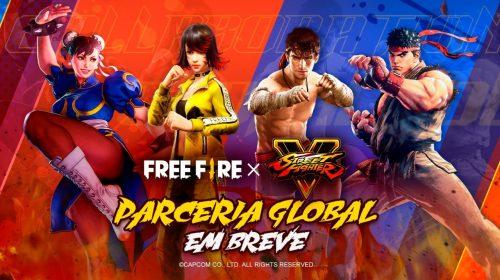 Street Fighter V terá conteúdo no Free Fire após parceria entre Garena e Capcom