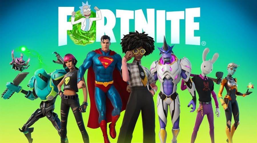 Passe de Batalha da Temporada 7 de Fortnite contará com Rick e Superman