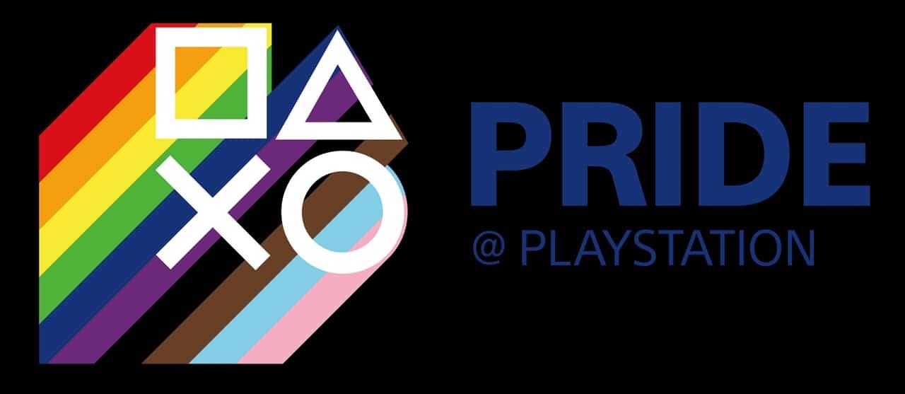 Símbolos da PlayStation com as cores do arco-íris.
