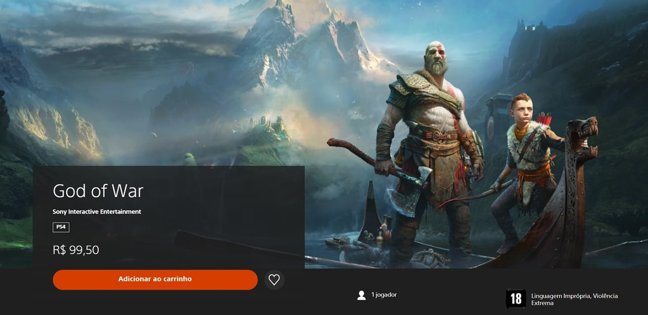 God of War, jogo com selinho PlayStation Hits.