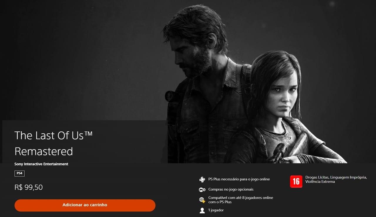 The Last of Us, jogo com selinho PlayStation Hits.