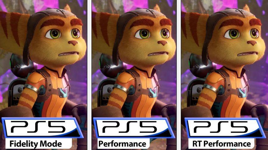 Compare os três modos de desempenho de Ratchet & Clank: Em Uma Outra Dimensão
