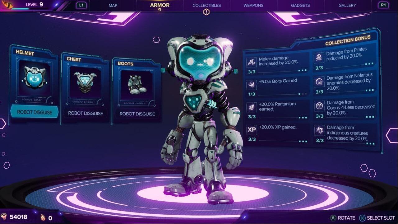 Ratchet & Clank: Em Uma Outra Dimensão - Armadura de Disfarce Robótico