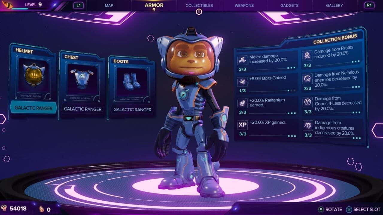 Ratchet & Clank: Em Uma Outra Dimensão - Traje de Patrulheiro