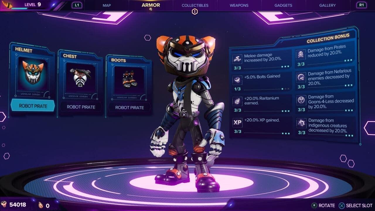 Ratchet & Clank: Em Uma Outra Dimensão - Armadura do Robô Pirata