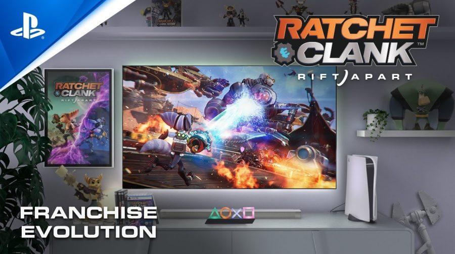Trailer de Ratchet & Clank: Em Uma Outra Dimensão destaca a evolução da série ao longo dos anos