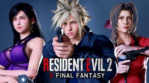 Crossover entre Final Fantasy VII e Resident Evil 2 coloca Cloud, Tifa e Aerith em Raccoon City