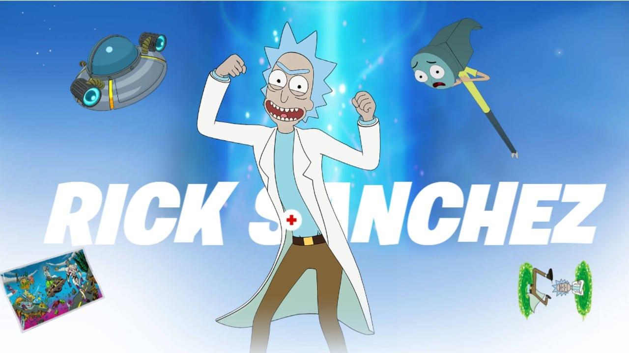 Rick sem o Morty - Passe de Batalha do Fortnite