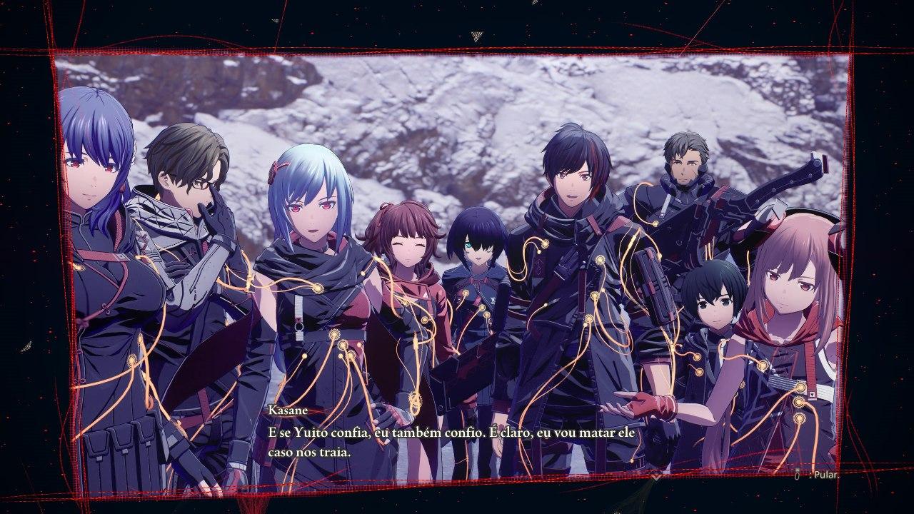 Scarlet Nexus - Kasane, Yuito e seus companheiros