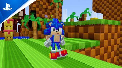 Sonic chega em alta velocidade ao Minecraft para comemorar seus 30 anos
