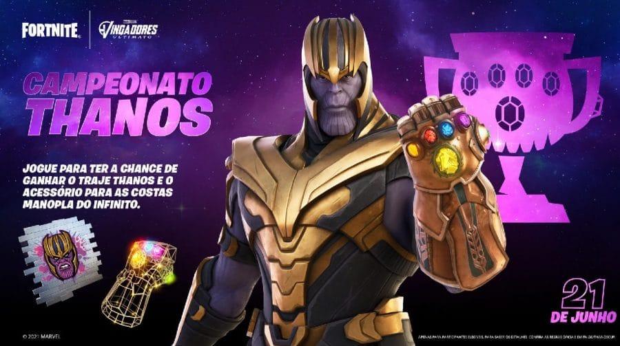 Ele é inevitável! Thanos estará de volta ao Fortnite no fim de junho