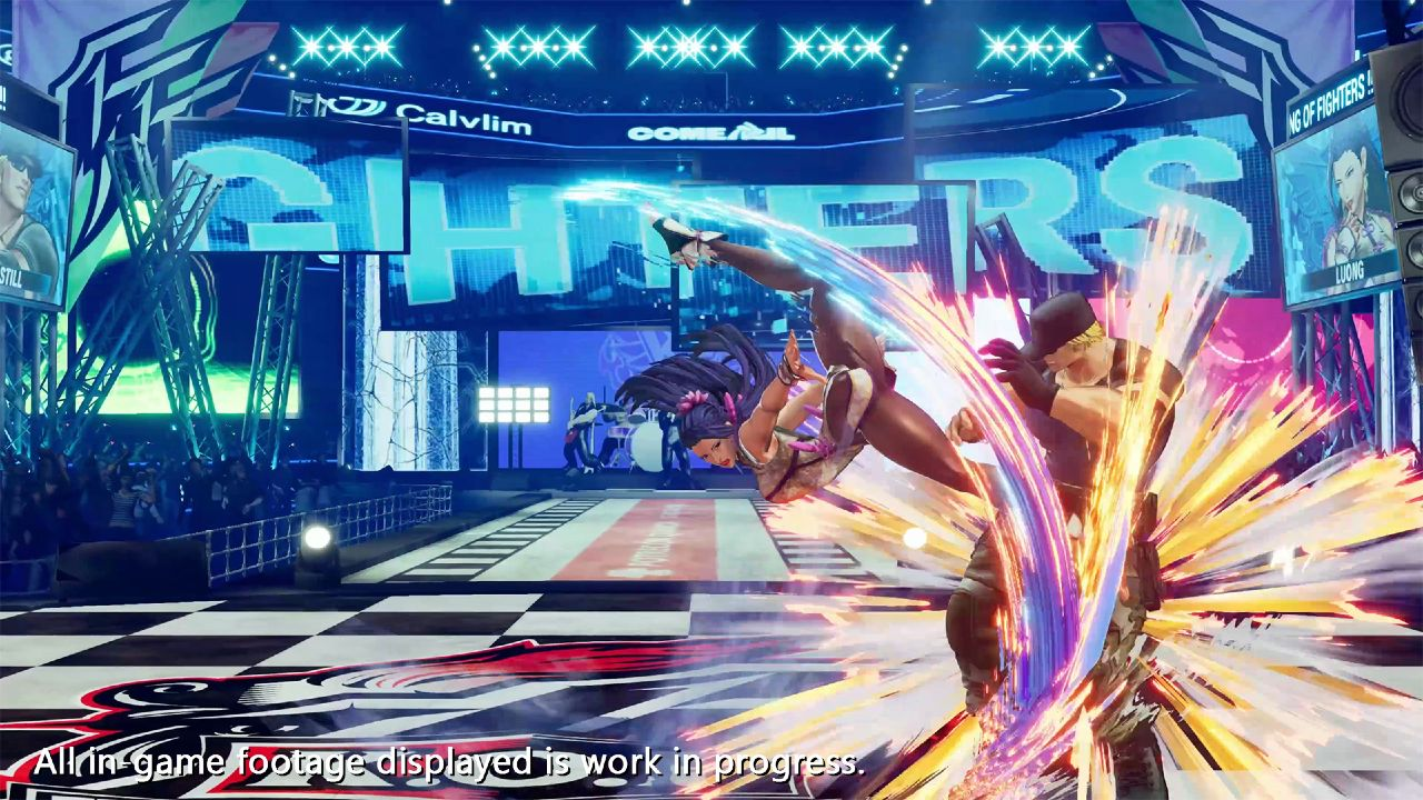 Luong, personagem de The King of Fighters XV, luta contra Clark Still