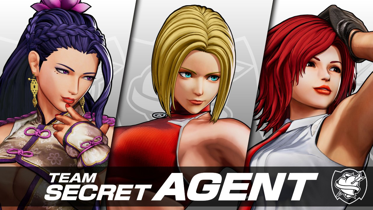 """Time """"Secret Agent"""", com Luong, Blue Mary e Vanessa em The King of Fighters XV"""