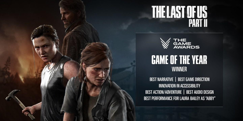 Premiações de The Last of Us 2 no The Game Awards 2020.