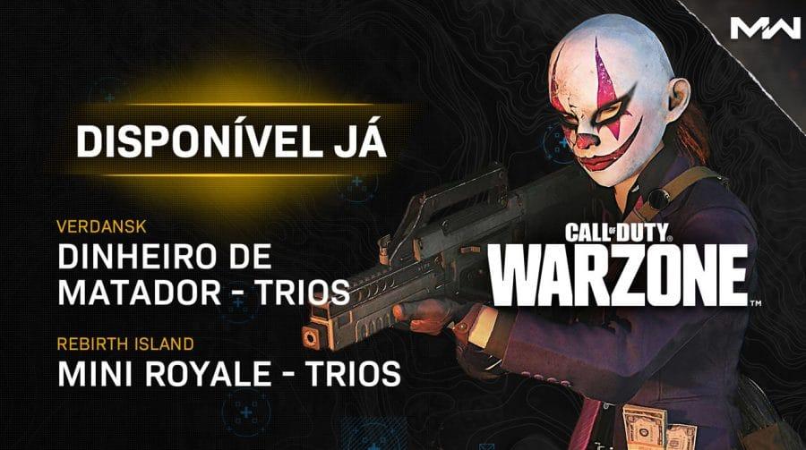 Update de Warzone e Cold War traz novos modos, playlists e correções