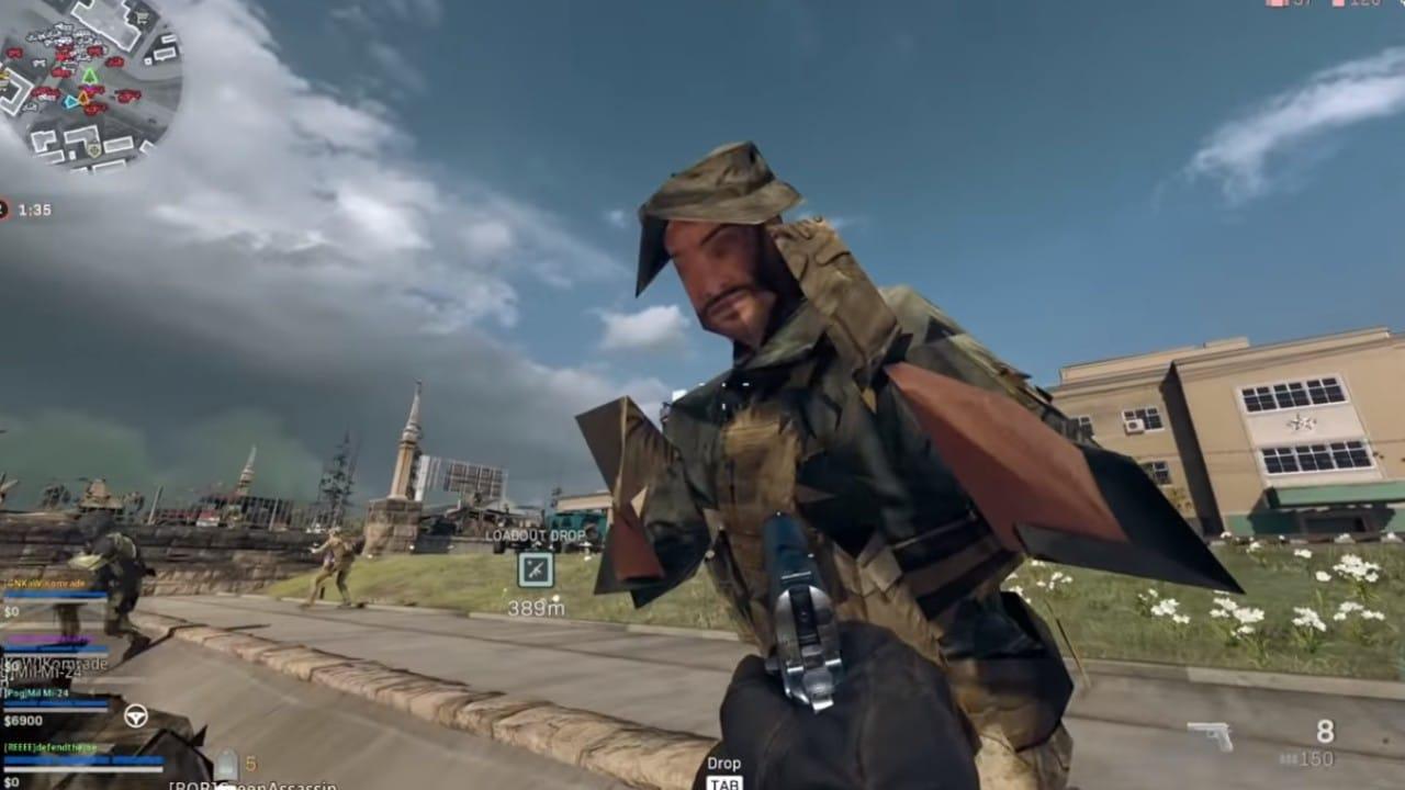 Warzone - Jogador bugado com gráfico de PlayStation 1