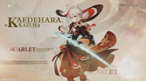 Novo personagem de Genshin Impact: update adiciona Kaedehara Kazuha