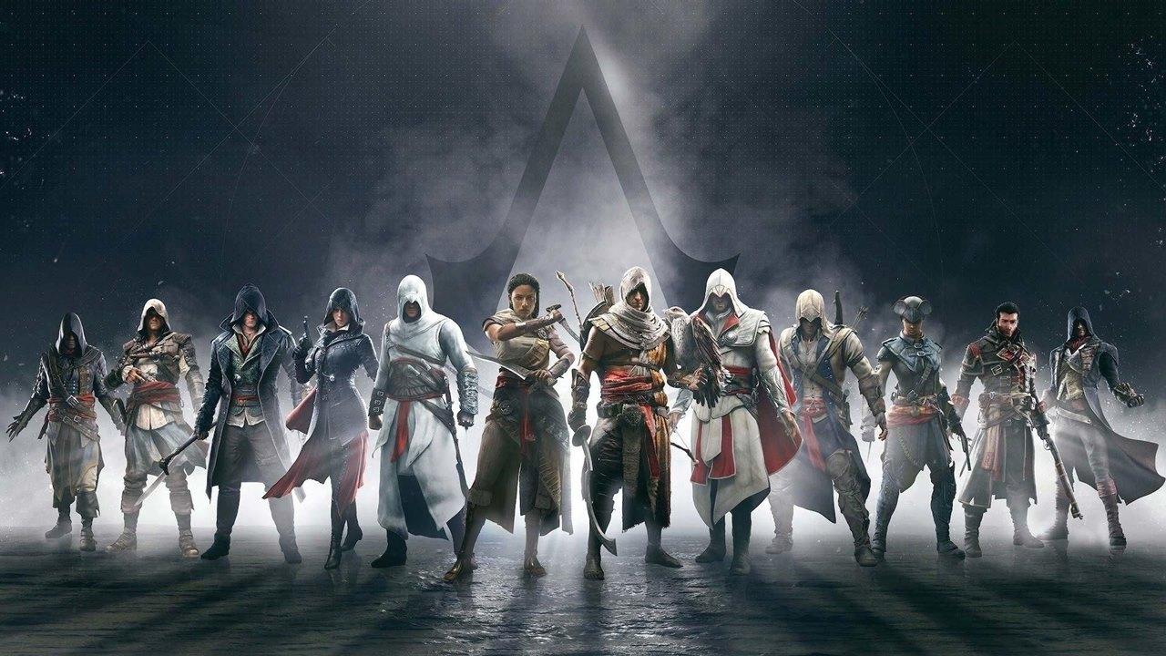 Assassinos dos jogos da série Assassin's Creed.