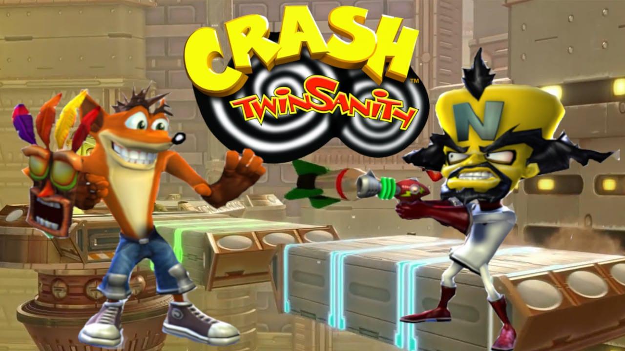 Crash, Cortex e Aku AKu em Crash Twinsanity