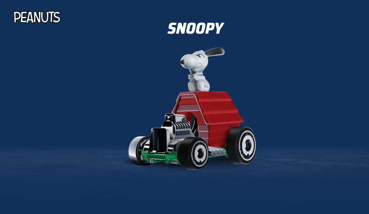 Carro do Snoopy em Hot Wheels Unleashed
