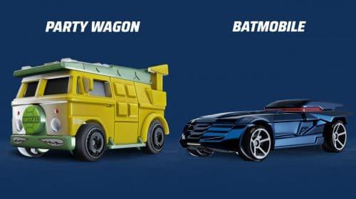 Hot Wheels Unleashed terá carros de Tartarugas Ninja, De Volta para o Futuro e Batman