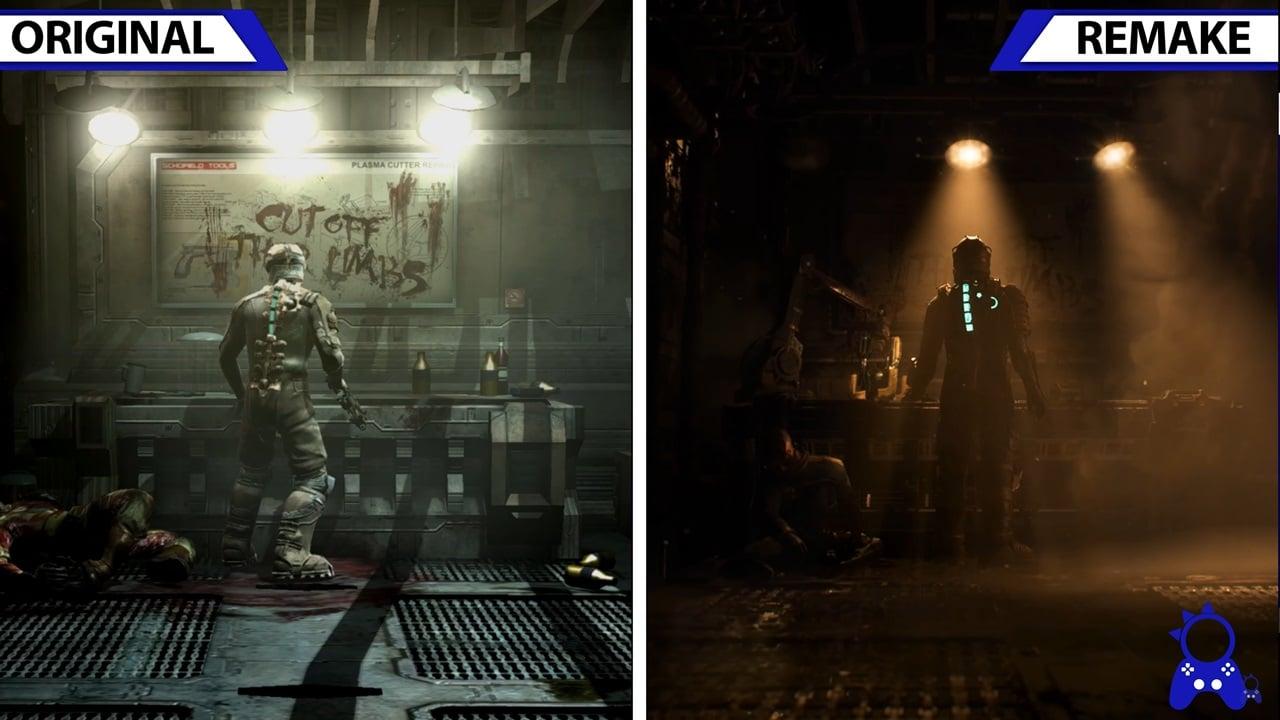 Comparações entre Dead Space original e o remake.