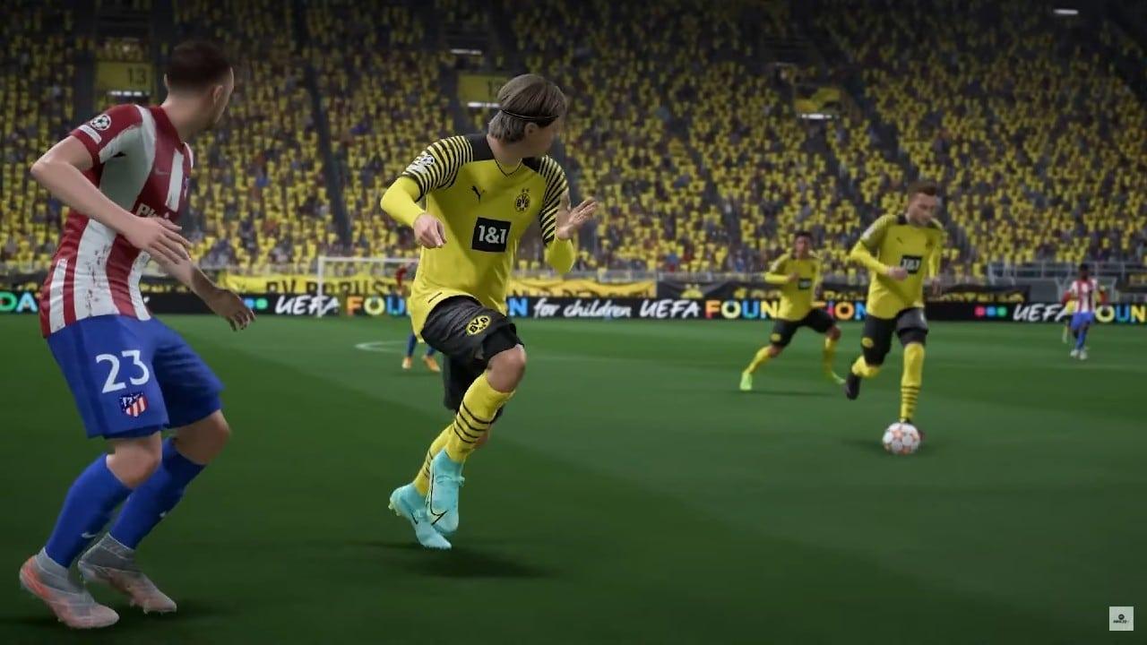 FIFA 22 - Haaland aponta onde quer o passe