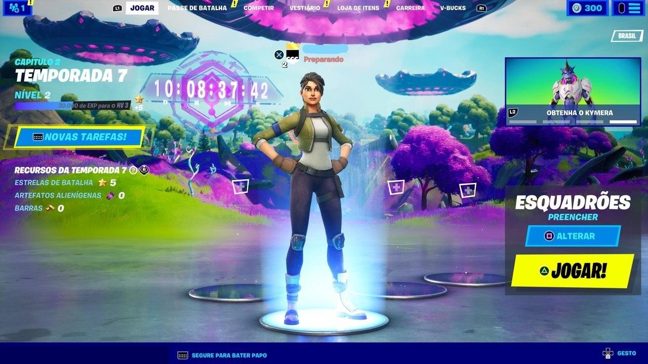 Imagem do lobby do jogo Fortnite