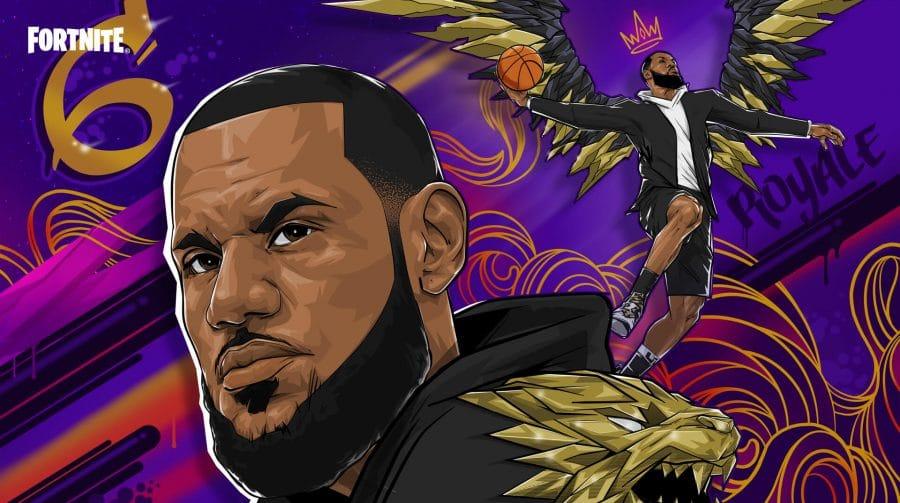 O rei chegou! LeBron James é oficialmente revelado em Fortnite