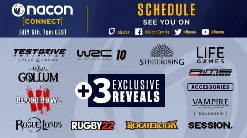 """Com """"três revelações exclusivas"""", Nacon Connect 2021 vai ao ar amanhã (06)"""