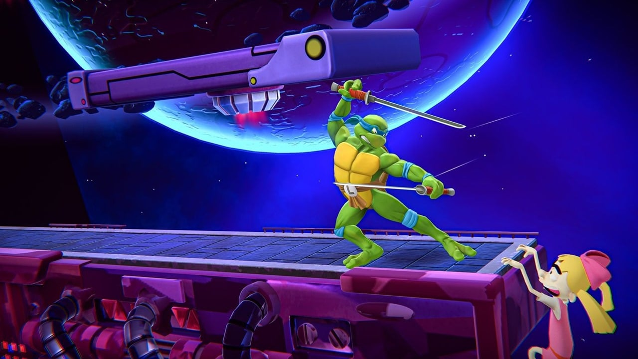 Cena do jogo Nickelodeon All-Star Brawl.