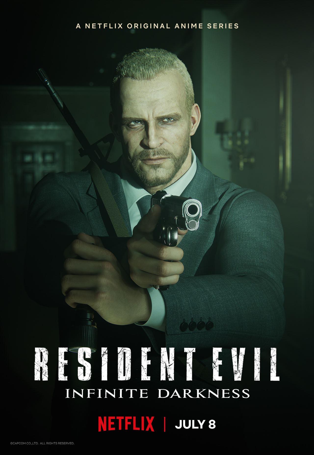 Pôster de Resident Evil: No Escuro Absoluto.