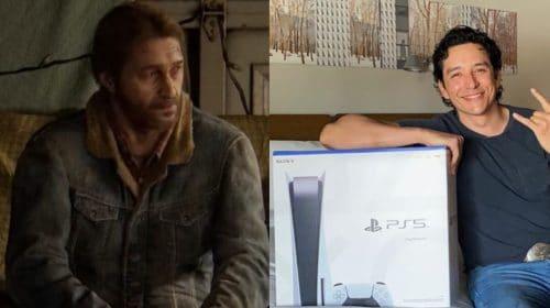 Ator de Tommy em The Last of Us da HBO ganha um PS5 e se