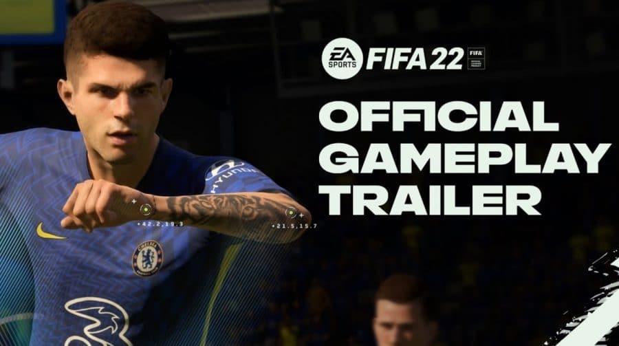 Trailer de gameplay de FIFA 22 destaca melhorias na jogabilidade