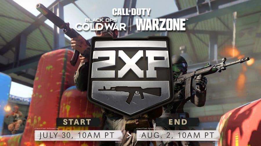 Warzone e Black Ops Cold War terão XP em dobro para armas neste fim de semana