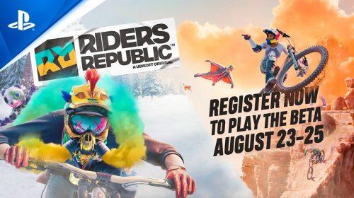 Riders Republic terá beta fechado entre os dias 23 e 25 de agosto no PS4 e no PS5