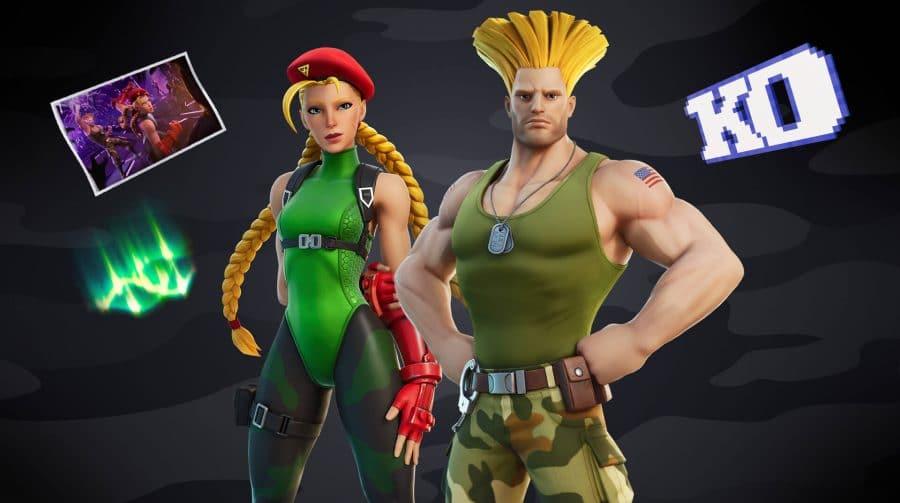 Cammy e Guile de Street Fighter chegarão ao Fortnite