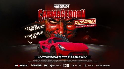 Update de Wreckfest traz crossover com a clássica franquia Carmageddon