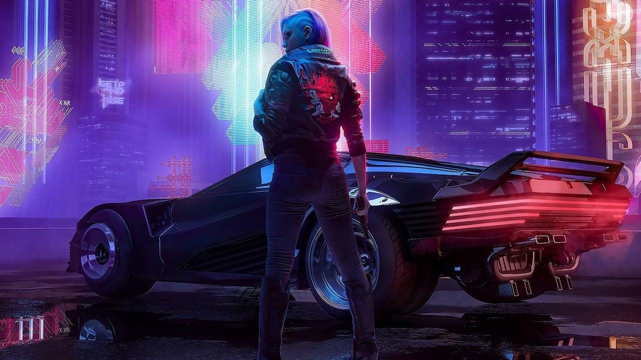 Bug bizarro de carro em Cyberpunk 2077.