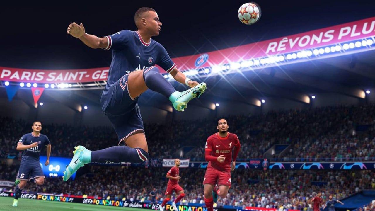 FIFA 22 - pré-temporada - Mbappe dominando a bola