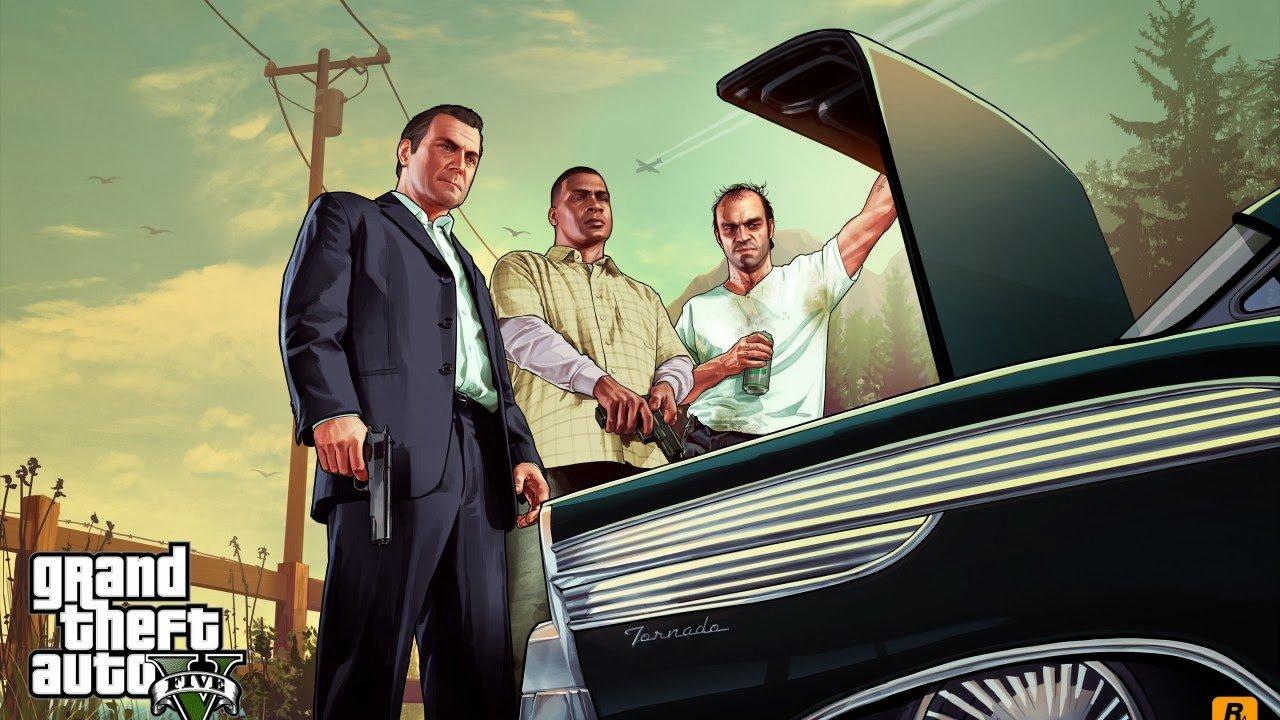 Michael, Franklin e Trevor, em GTA V