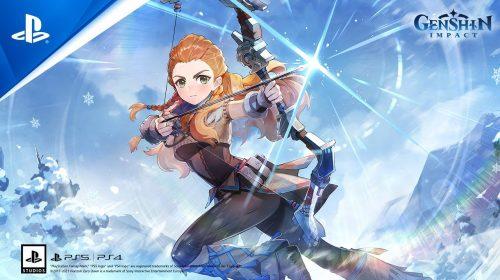 Primeiro gameplay de Aloy em Genshin Impact é revelado na Gamescom