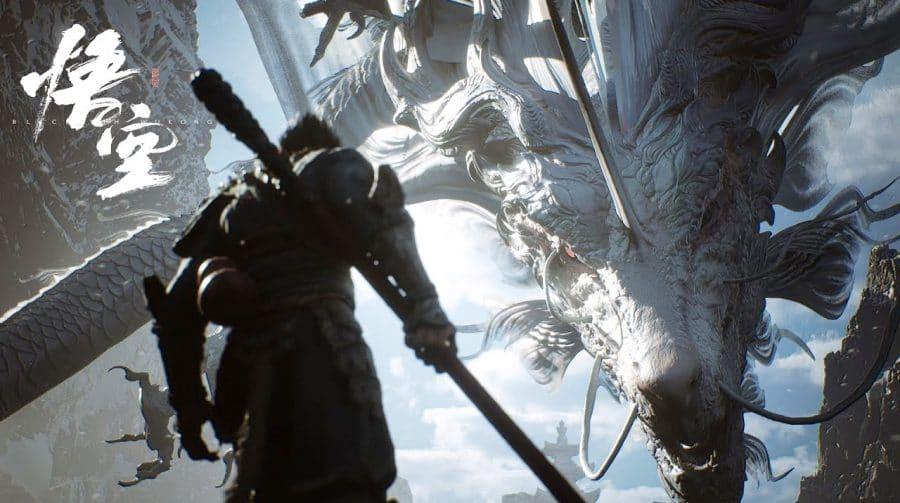 Gameplay de Black Myth: Wukong na Unreal Engine 5 exibe batalha épica contra dragão celestial